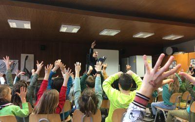 Lesung von Armin Pongs an der Grundschule Heumaden