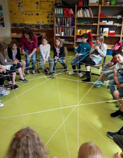 Projekttage: Soziales Miteinander - Spinnennetz